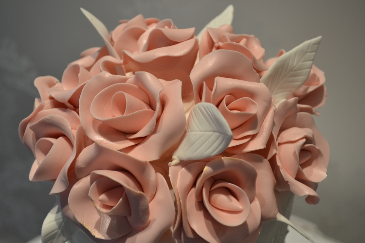 Gorgeous Wedding Cake Topper Pink Flowers
