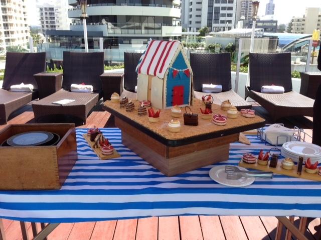 Nautical Theme Morning Tea On The Pool Deck One