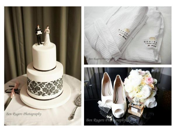 Gold Coast Broadbeach Wedding Cake Robes Shoes Flowers