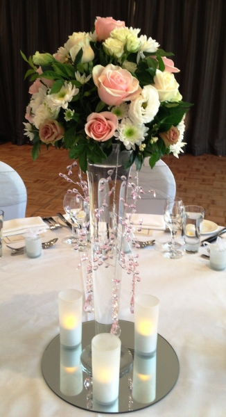 Wedding Reception Floral Centre Piece