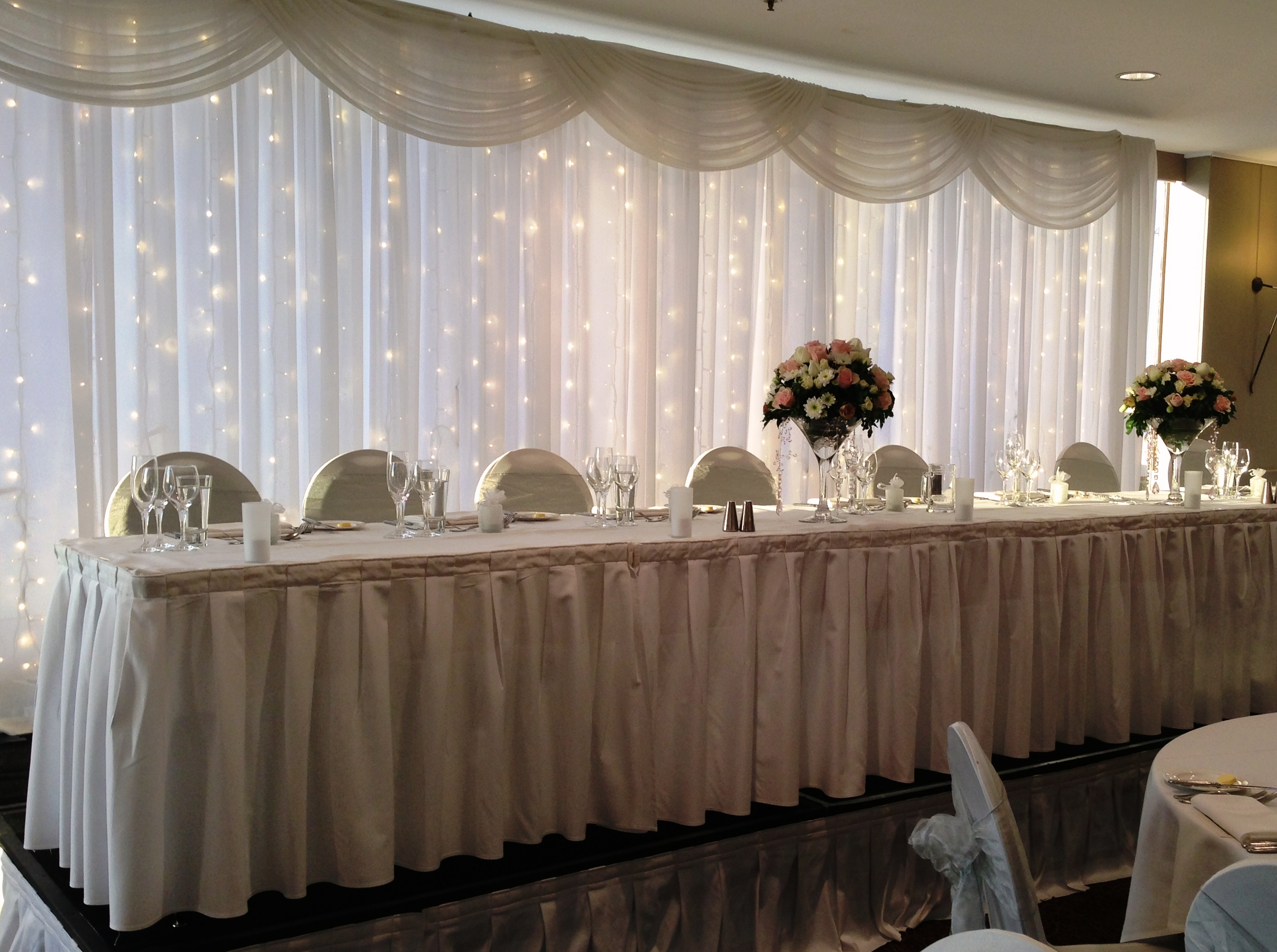 Centre Piece TravLin Lights Wedding Tables Backdrops