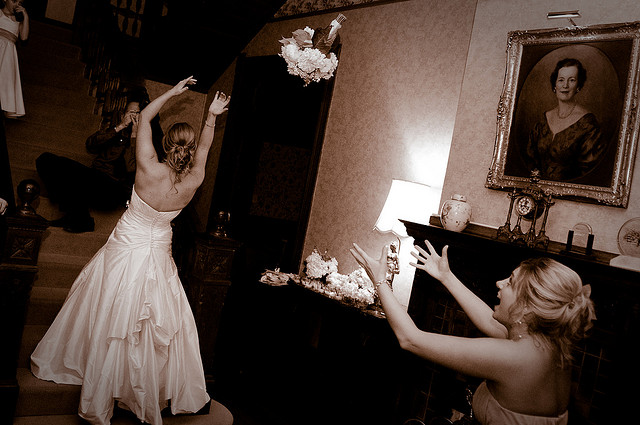 Wedding Bouquet Toss