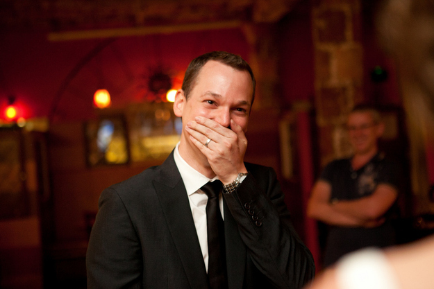 Groom Seeing Bride for First Time Emotional Reaction