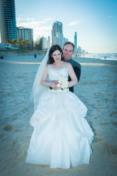 Beach Wedding Bride and Groom