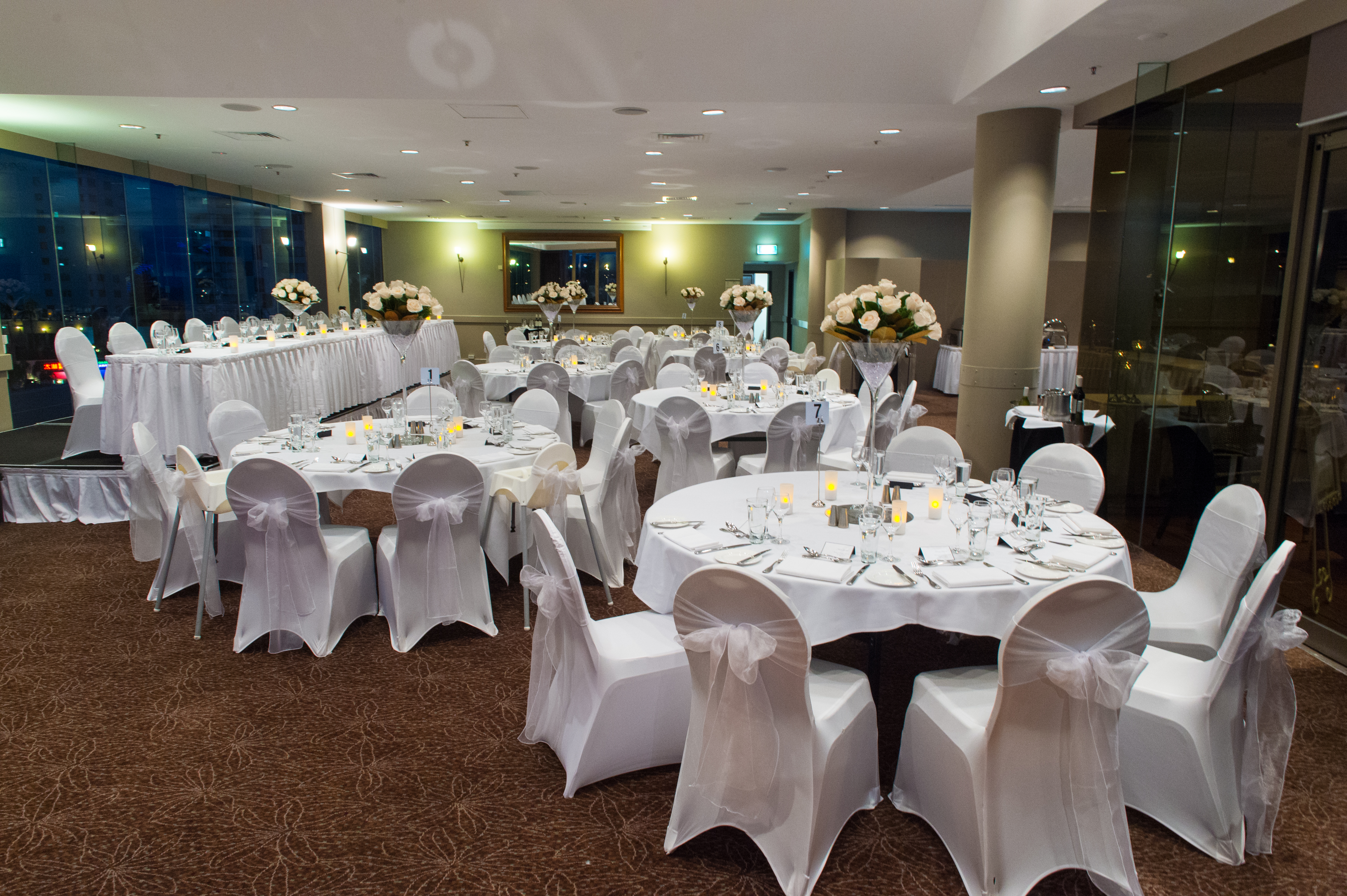 Classic White And Ivory Themed Wedding Reception