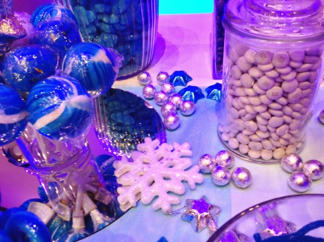Winter Wonderland Igloo Candy Buffet Blue and Silver 5598