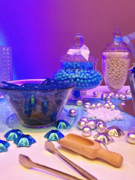 Winter Wonderland Igloo Candy Buffet Blue and Silver 5599