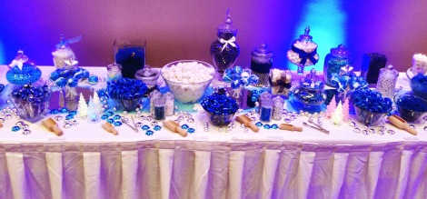 Winter Wonderland Igloo Candy Buffet Blue and Silver 5603