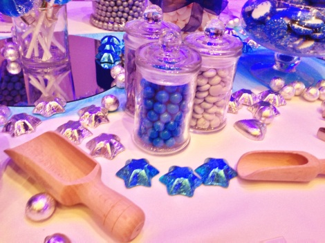 Winter Wonderland Igloo Candy Buffet Blue and Silver