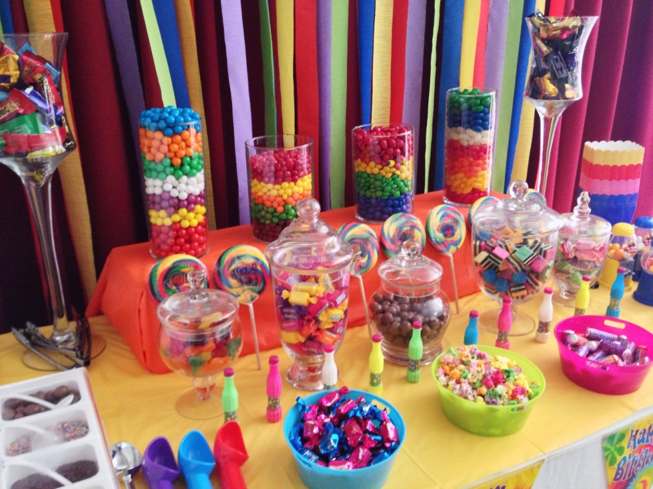 Birthday table decorations at home - Back Gt Gallery For Gt Candy Buffet
