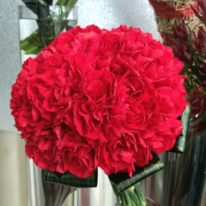 Valentine's Day Flower Display Close Up