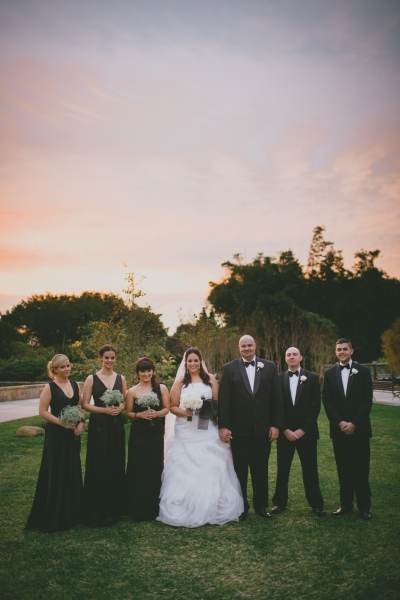 Wedding Bridal Party Black, White and Silver Theme