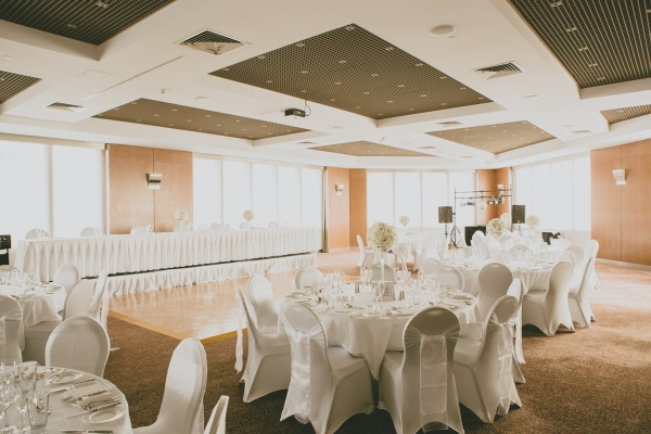 Sorrento Room Reception Venue with White Theme