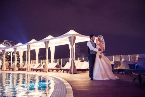 Sofitel-Gold-Coast-Broadbeach-Pool-Deck-Wedding-Ceremony-Cabana-Lights