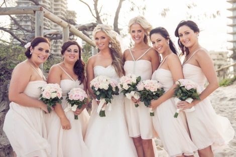 Sofitel-Gold-Coast-Broadbeach-Wedding-beach-Ceremony-Bridesmaids-Flowers