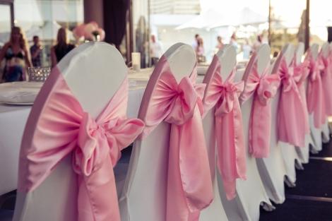 Sofitel-Gold-Coast-Broadbeach-Wedding-Reception-Cocktail-Chair-Cover-Pink-Sash-Bridal-Table