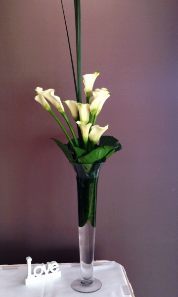 Wedding Ceremony and Reception Calla Lily Floral Arrangement