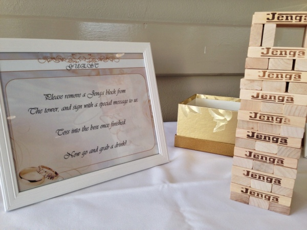 Jenga Game Wedding Reception
