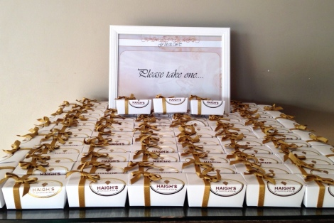 Haighs Chocolate Wedding Favours