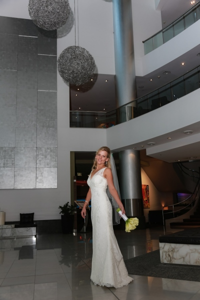 Sofitel Lobby Bride with Bouquet