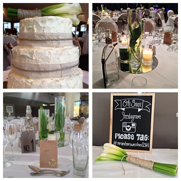 Wedding Cake, Centre Piece, Sign Board and Wedding Favour