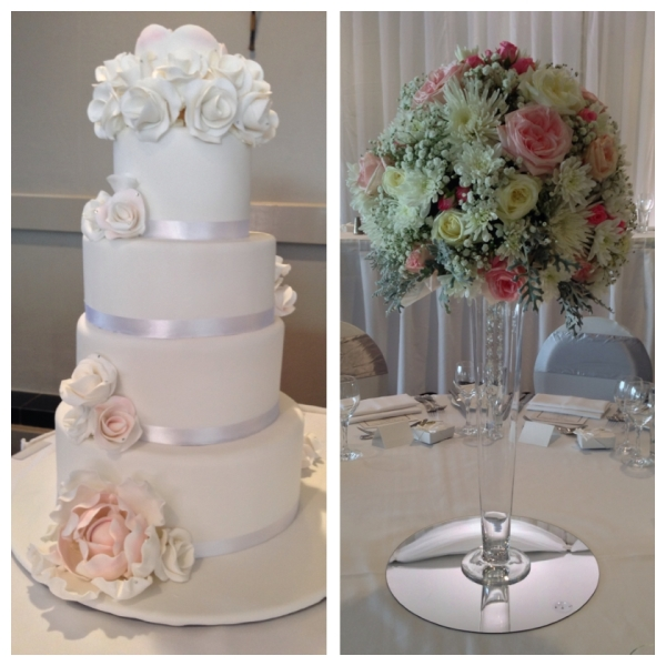 Wedding Cake and Floral Centre Piece