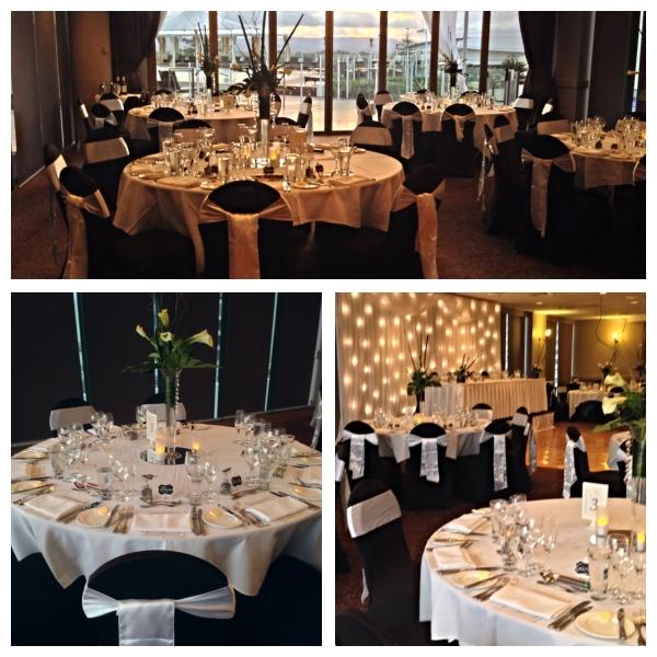 Black White Wedding Theme: Wedding Reception