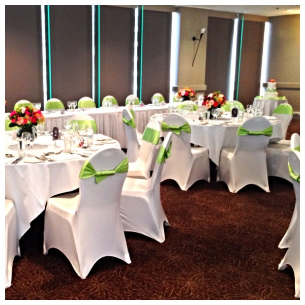 Wedding Reception with Apple Green Theme