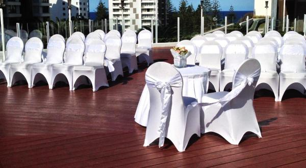 Weddding Ceremony on the Pool Deck
